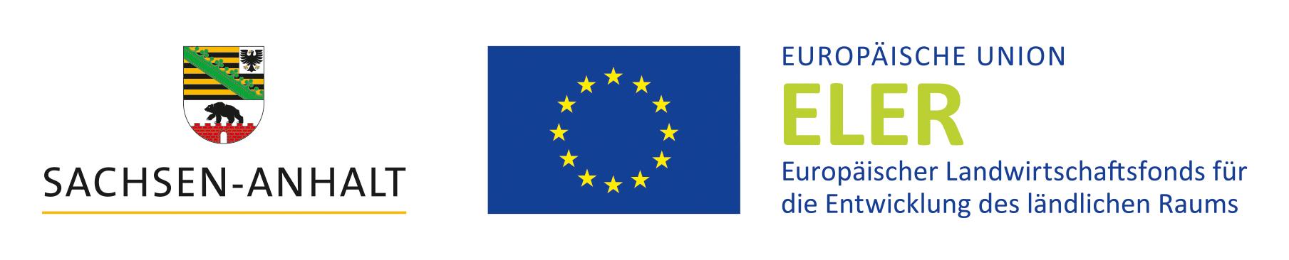 Logoreihe Europäische Union ELER und Sachsen-Anhalt